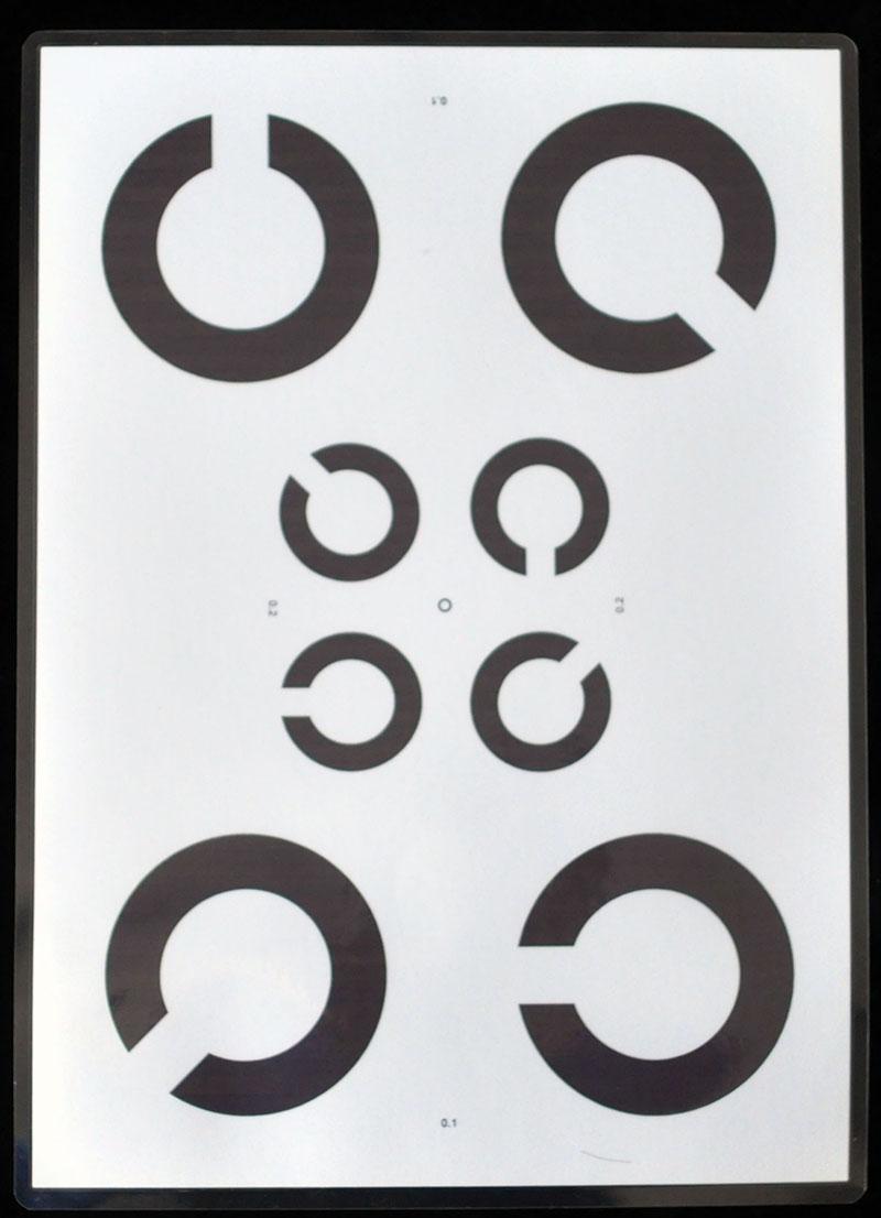 2017年 – 研发第二版(纸质)旋转自测C字视力表